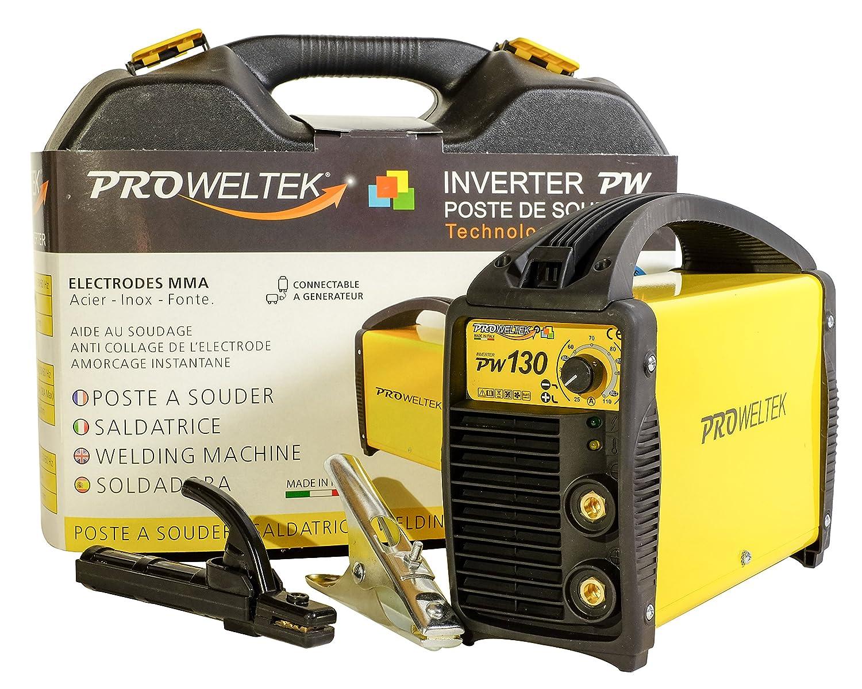proweltek estación de soldadura inverter 130 A incluye: maletín, cortador de masa, puerta electrodos: Amazon.es: Bricolaje y herramientas
