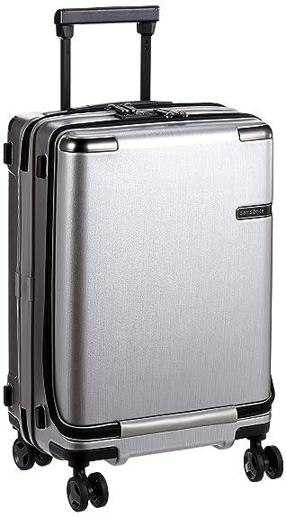 df0359c530 Amazon | [サムソナイト] スーツケース キャリーケース エヴォア スピナー55 機内持ち込み可 保証付 33L 55 cm 3.7kg  ブラッシュドシルバー | SAMSONITE(サムソナイト) ...