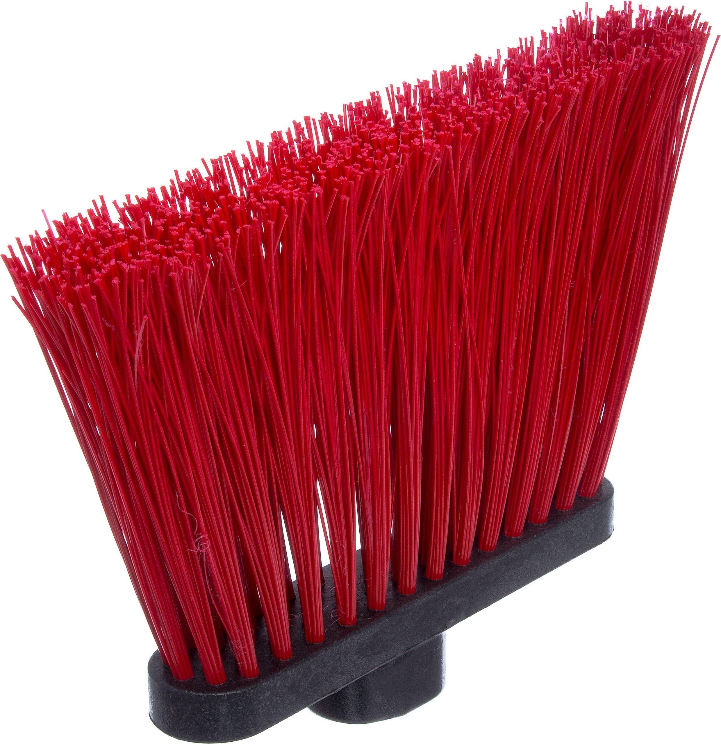 Carlisle 3686805 Duo-Sweep UnFlagged Angle Broom Head, 8'', Red by Carlisle (Image #3)