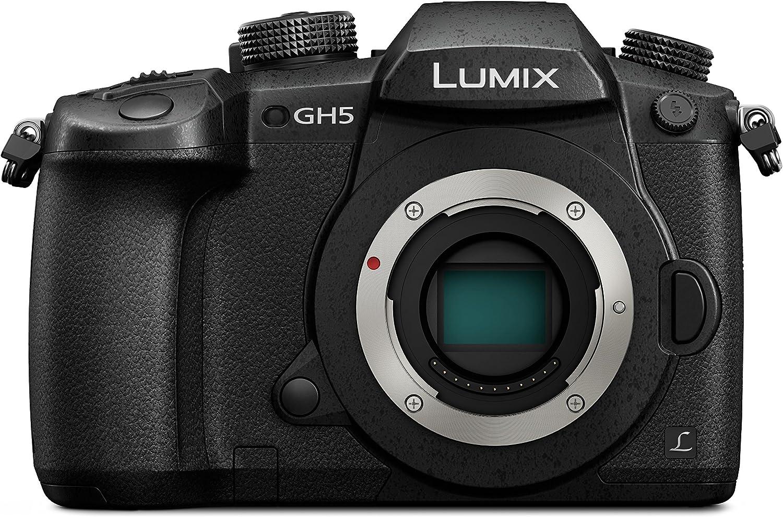 Panasonic DC-GH5 Lumix - Cámara Digital DE 20.3 MP (Cuerpo MILC 20.3MP Live Mos, 5184 x 3888 Píxeles, Full HD, Pantalla Táctil), Color Negro [Versión Importada]