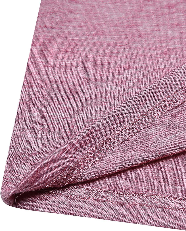 manga larga cuello redondo Camiseta de b/éisbol para mujer blusa B-gris claro L Vonda