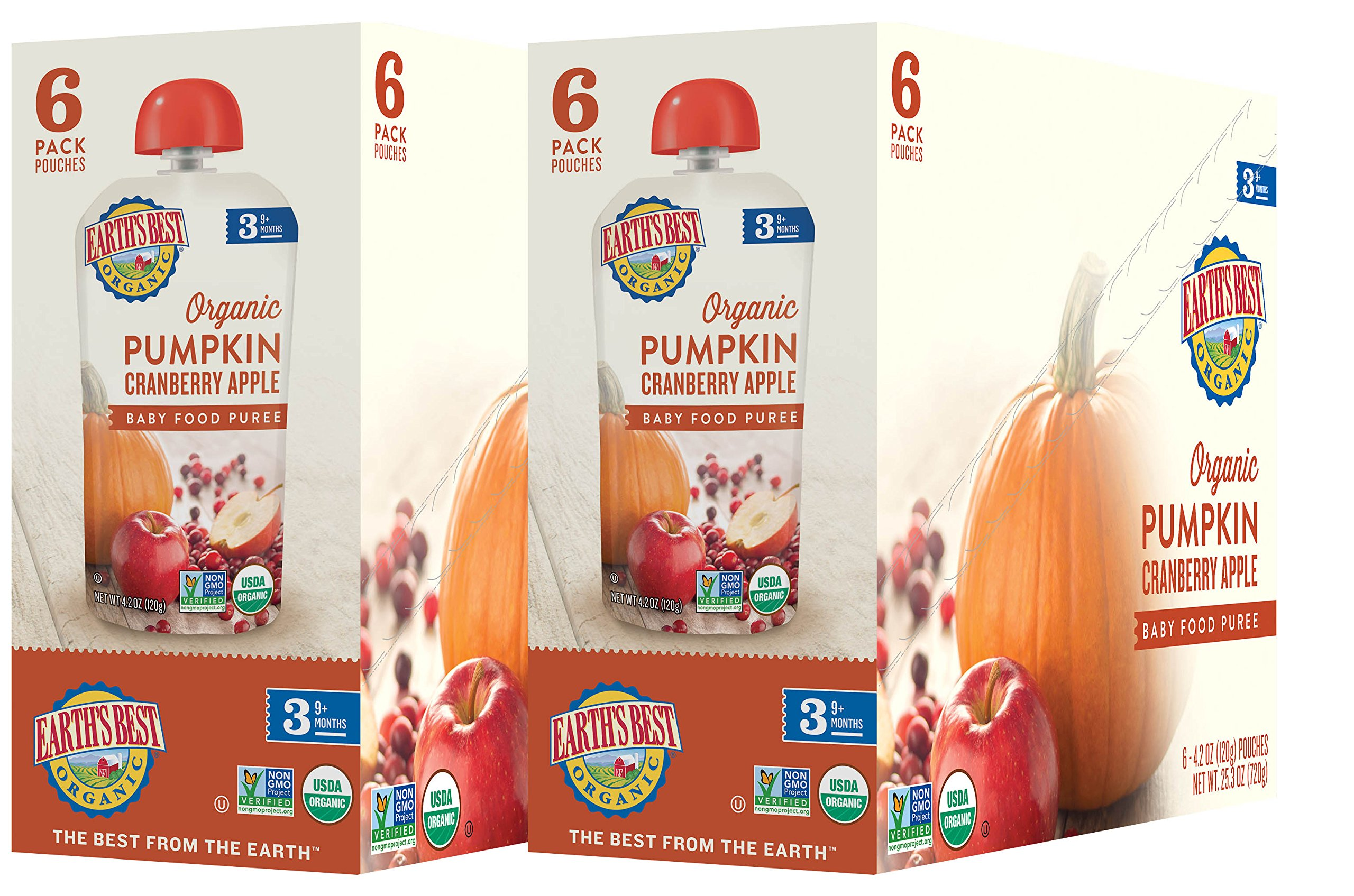 Earth's Best Organic Stage 3, Pumpkin, Cranberry & Apple, 4.2 Ounce Pouch (Pack of 12) (Packaging May Vary) by Earth's Best (Image #7)