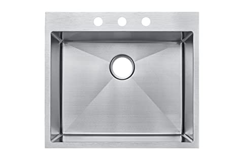 Starstar 19 inch top mount drop in stainless steel single bowl starstar 19 inch top mount drop in stainless steel single bowl kitchen sink 16 workwithnaturefo