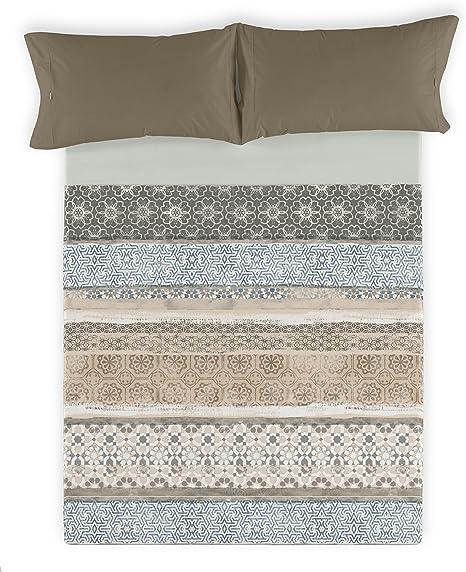 ESTELA - Juego de sábanas MORELLA - Impresión Digital - Cama de 180 cm (4 Piezas) - 100% Algodón - 144 Hilos: Amazon.es: Hogar