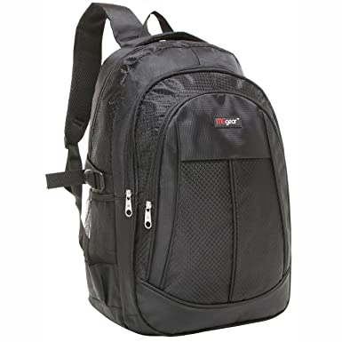 19 Inch Black Multi Purpose School Book Bag Travel Carry On Backpack