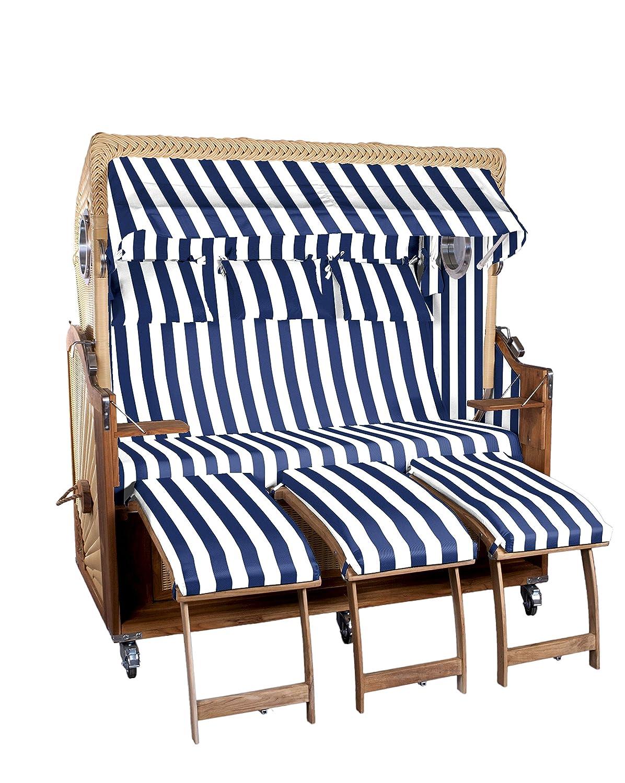 Strandkorb Kampen Spezial 3-Sitzer, gestreift