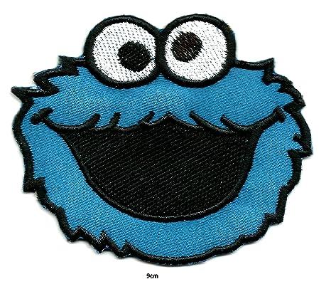 Parche del monstruo de las galletas, bordado de alta calidad para coser o planchar en