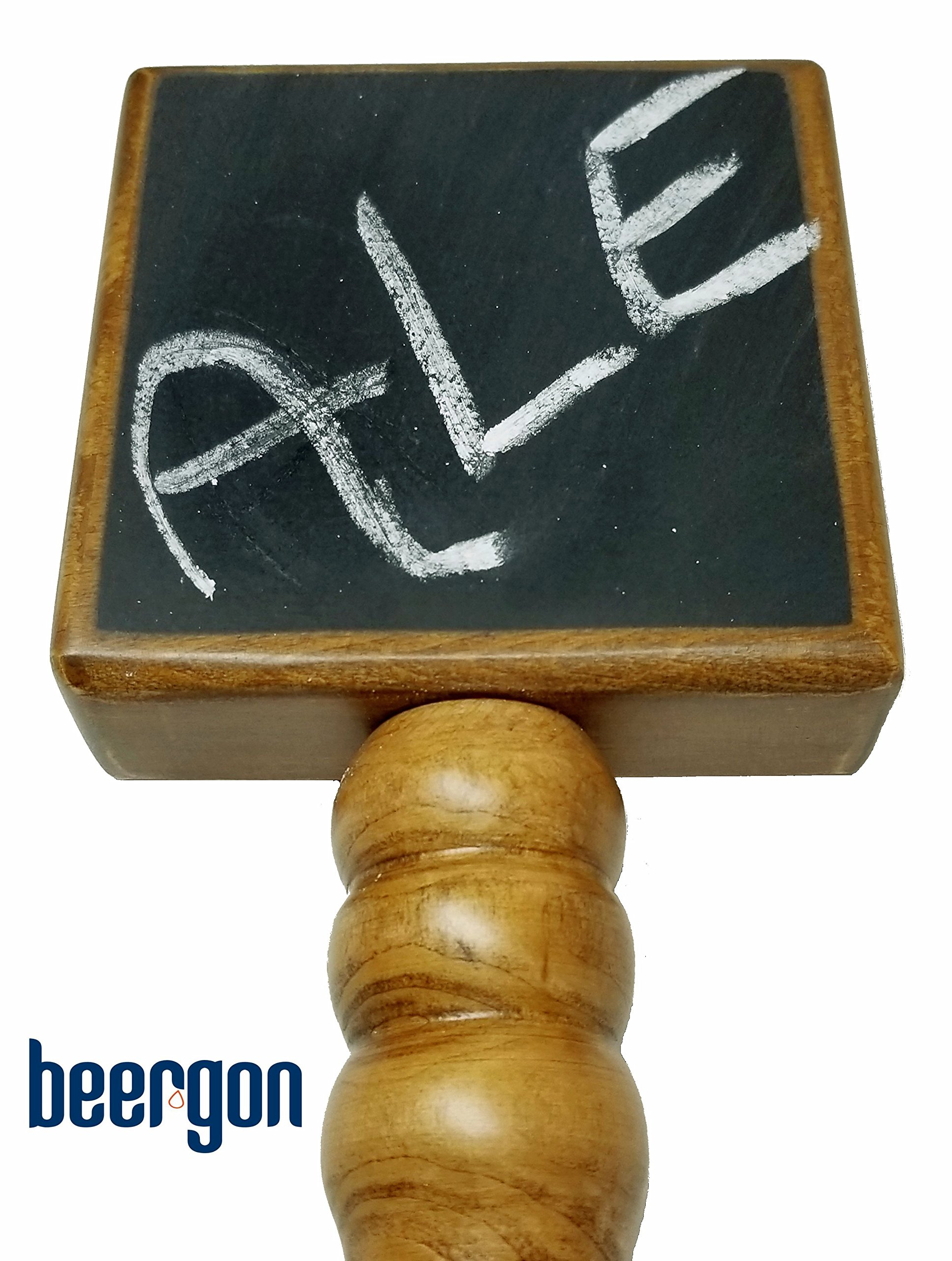 CHALKBOARD BEER TAP HANDLE - NATURAL PREMIUM BEECH AND SCHIMA SUPERBA WOOD (CHERRY STAIN) - EXTRA-LONG 9-INCH BEER FAUCET HANDLE FOR BEER TOWER TAPS - BEERGON (1-PACK) by BEERGON (Image #4)