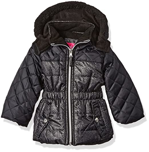 20a0e4155 Pink Platinum Baby Girls' Infant Quilted Puffer Jacket Mixed with Spray Foil