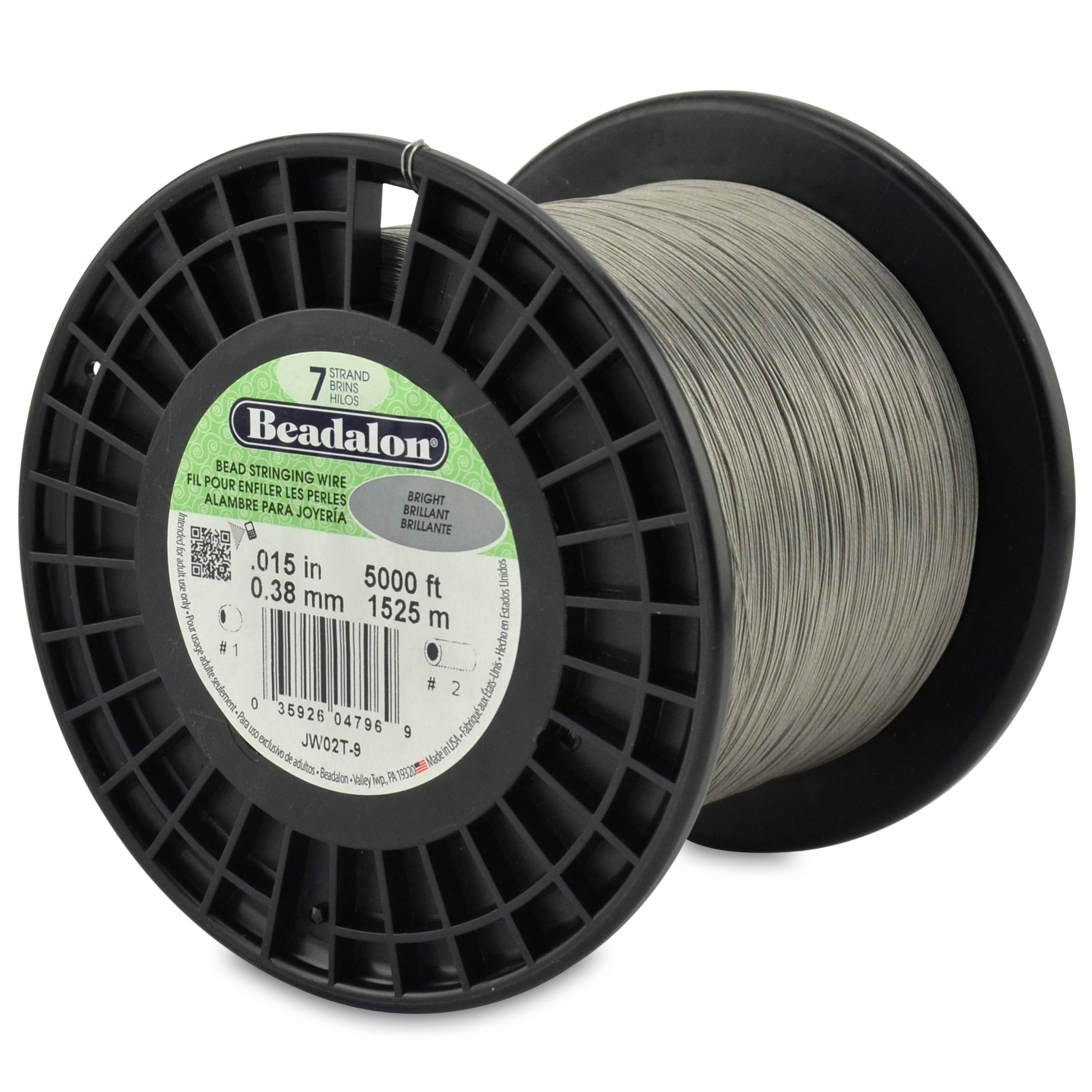 Beadalon 0.015-Inch 7-Strand Wire, Bright, 5000-Feet by Beadalon (Image #1)
