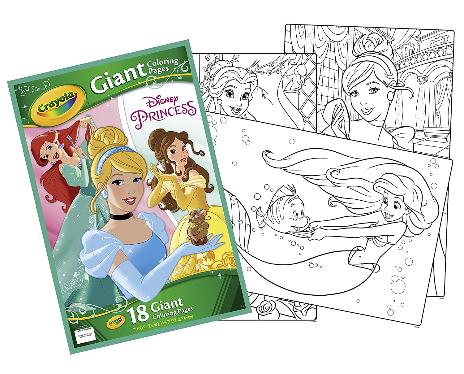 Amazon.com: Disney Princess Giant Coloring Pages: Toys & Games