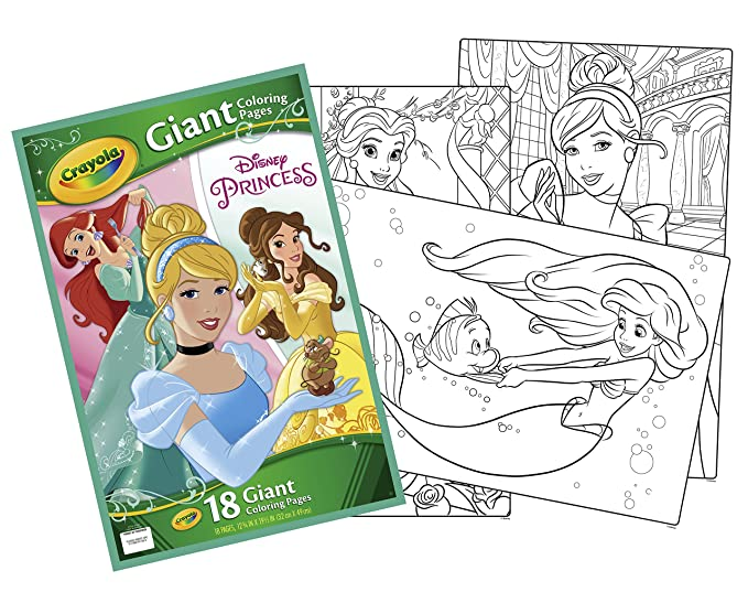 Amazon Disney Princess Giant Coloring Pages Toys Games