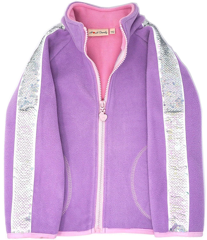 Leggings 3-14 Years Fleece Jacket Glitter Flip Sequin Girls T-Shirt Top Short//Long Sleeve