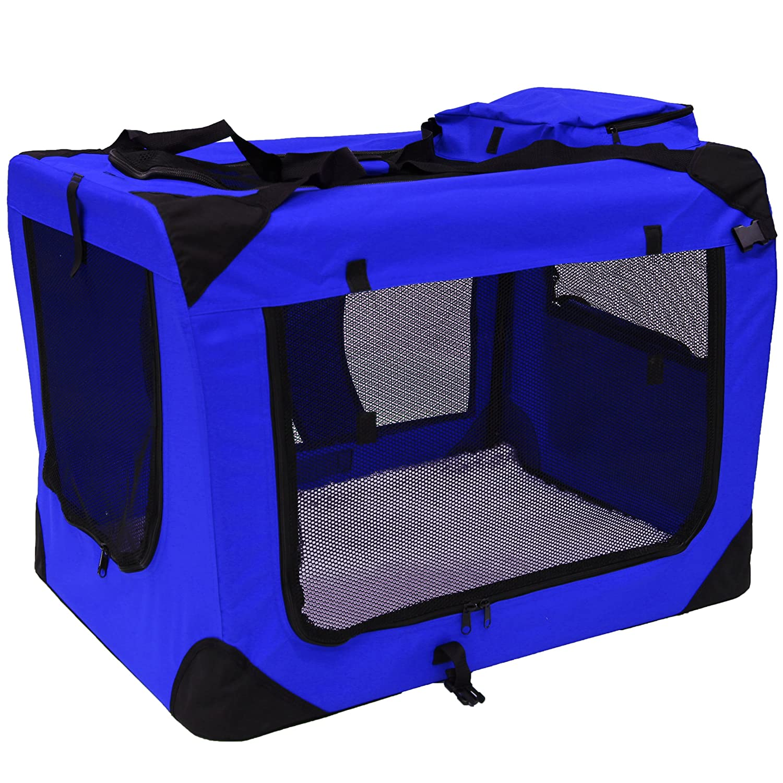 MOOL Tissu léger de Transport Pet avec Matelas en Polaire et Sac à Nourriture, XL, 81x 58x 56cm, Gris PET-4008