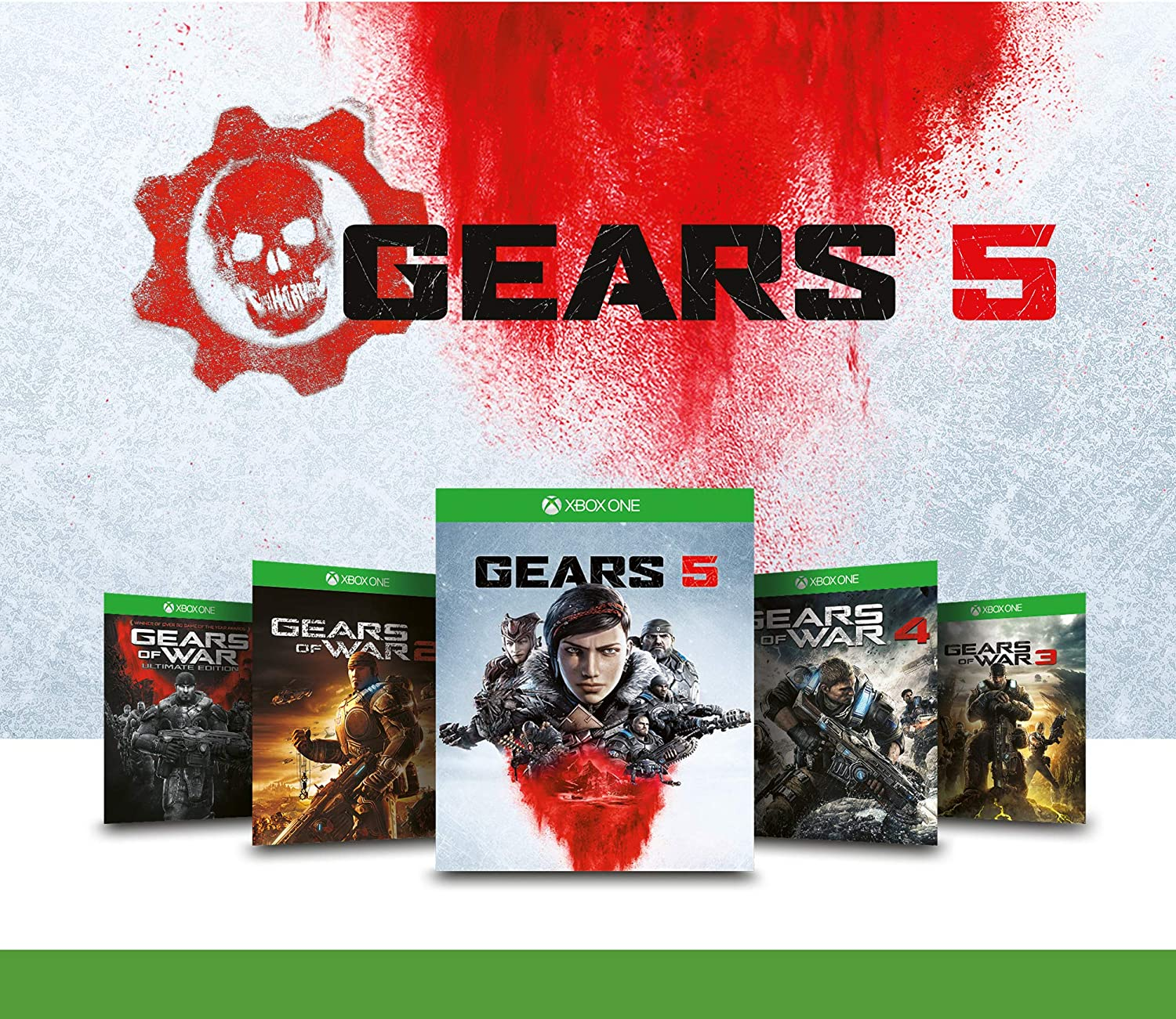 Xbox One X - Bundle Gears of War 5 Ultimate Edition - Inclusi Gears of War 2, 3, 4 + 1 Mese Live Gold + 1 Mese Gamepass - Limited Edition [Importación italiana]: Amazon.es: Videojuegos