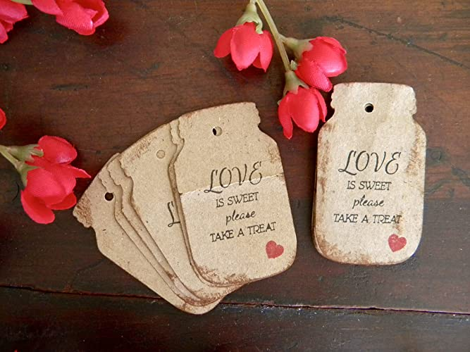 Wedding Labels Mason Jar Gift Tags Canning Favor