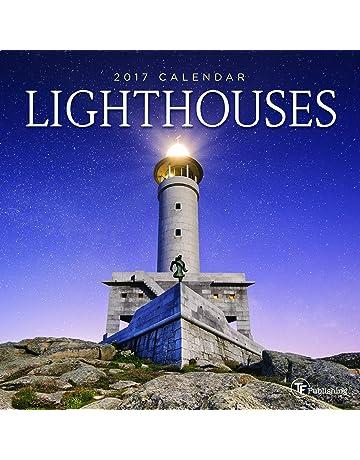 2018 lighthouses mini calendar