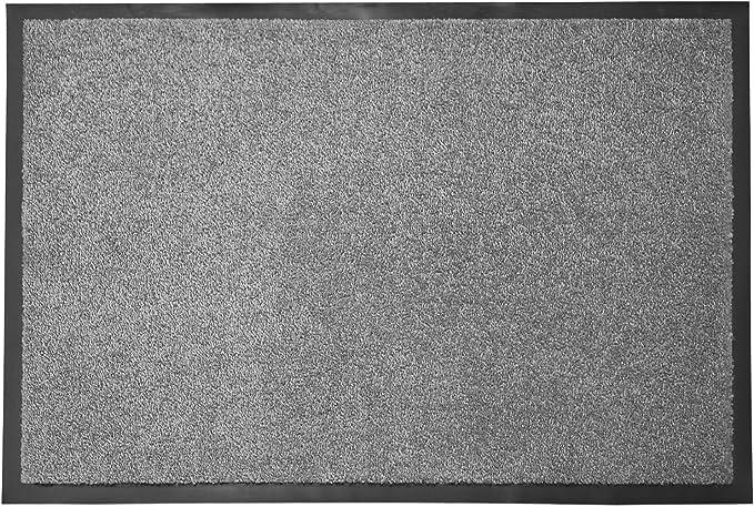40x60 cm SSyang Tapis de Porte Ext/érieur et Int/érieur,Tapis Absorbant Noir Gris,Tapis d/'Entr/ée Antid/érapant Facile /à Nettoyer avec Rev/êtement en Caoutchouc pour Couloir,Entr/ée,Cuisine,Chambre