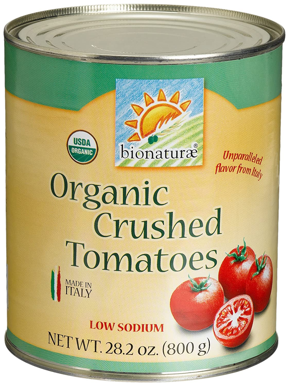 Bionaturae Organic Crushed Tomatoes, 28.2 Ounce (Pack of 12)