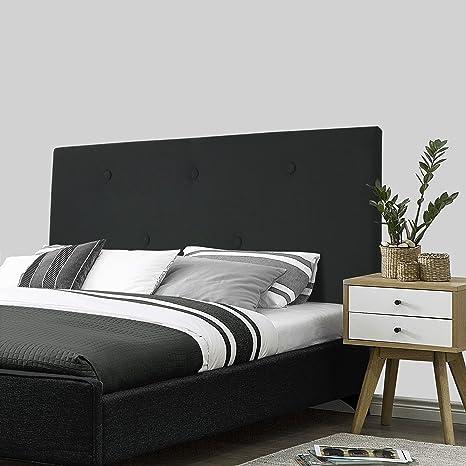 SERMAHOME- Cabecero Alicante tapizado Tela Color Negro. Medidas: 110 x 55 x 7