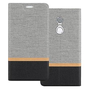 Funda Redmi Note 4X, Shanphone Tipo libro piel PU Cover Carcasa plegable cartera con soporte flip Case para Xiaomi Redmi Note 4X, Gris