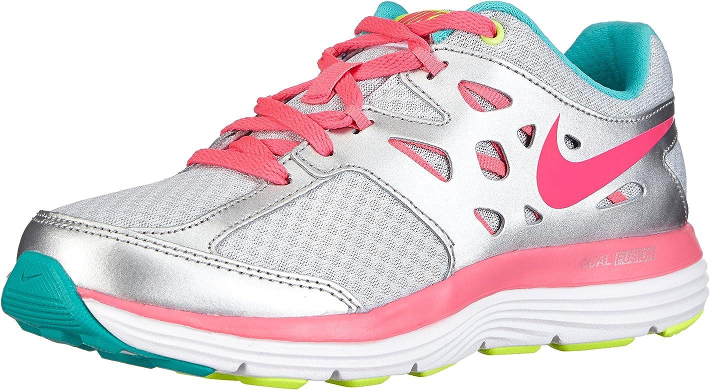 Nike Dual Fusion Lite (GS) - Zapatillas para niña, Blanco (Pr Pltnm/Hypr Pnk-Mtllc Slvr-H 010), 35,5: Amazon.es: Zapatos y complementos