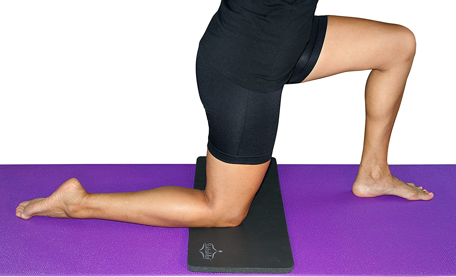"""SukhaMat Yoga Mat with Knee Pad Starter Set One Full Size 72/"""" Long Yoga Mat and One 15mm Thick Yoga Knee Pad Cushion Alleviates Knee Pain"""