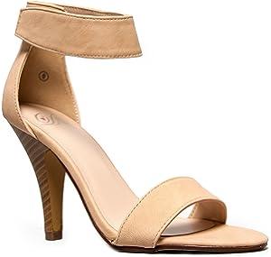 Glaze WILLOW-2 / CHARLIE-1 Stiletto High Heel Ankle Strap Sandal