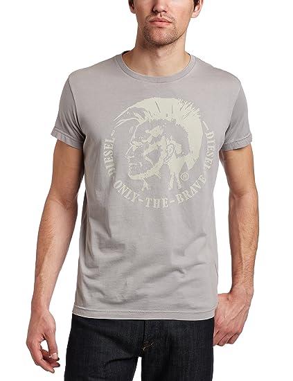 8fadc9ba8d7 Diesel - T-shirt - Homme - T-shirt Diesel homme T-Nana 94G gris - S ...