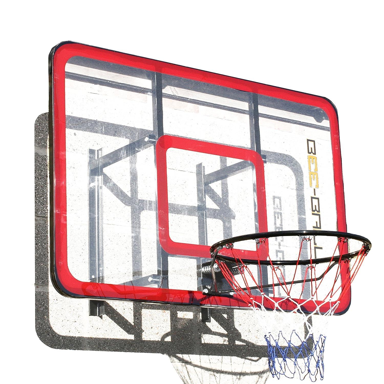 BEE BALL ZY Canasta de baloncesto de tamaño reglamentario con acrílico reforzado