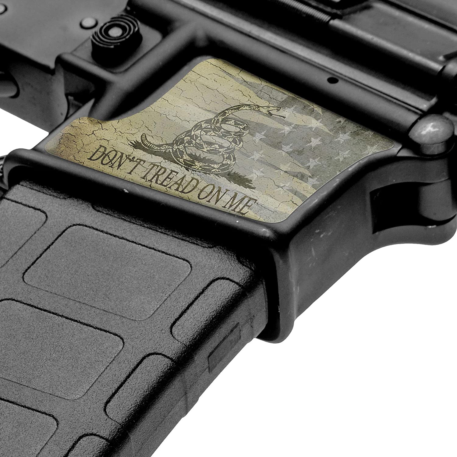 GunSkins Magwell Skin - Premium Vinyl Decal - Easy to Install and Fits AR-15 Lower Receivers - 100% Waterproof Non-Reflective Matte Finish - Made in USA
