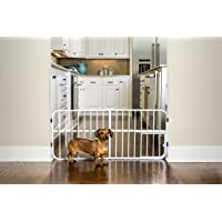 Carlson Pet Products Lil' Tuffy Expandable Gate with Small Pet Door