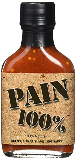 Pain 100% Caliente La Salsa Dolor 100 Oz 3,75