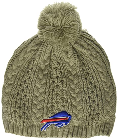 cheap for discount a1bcf 4b871 ... where can i buy nfl buffalo bills womens valerie ots beanie knit cap  with pom gray