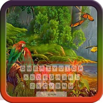 amazon com jungle parrots keyboard theme free themes backgrounds