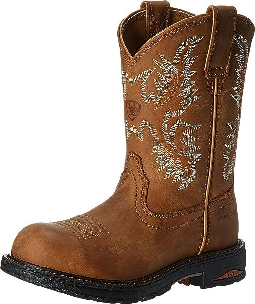 steel toed cowboy boots women - ariat