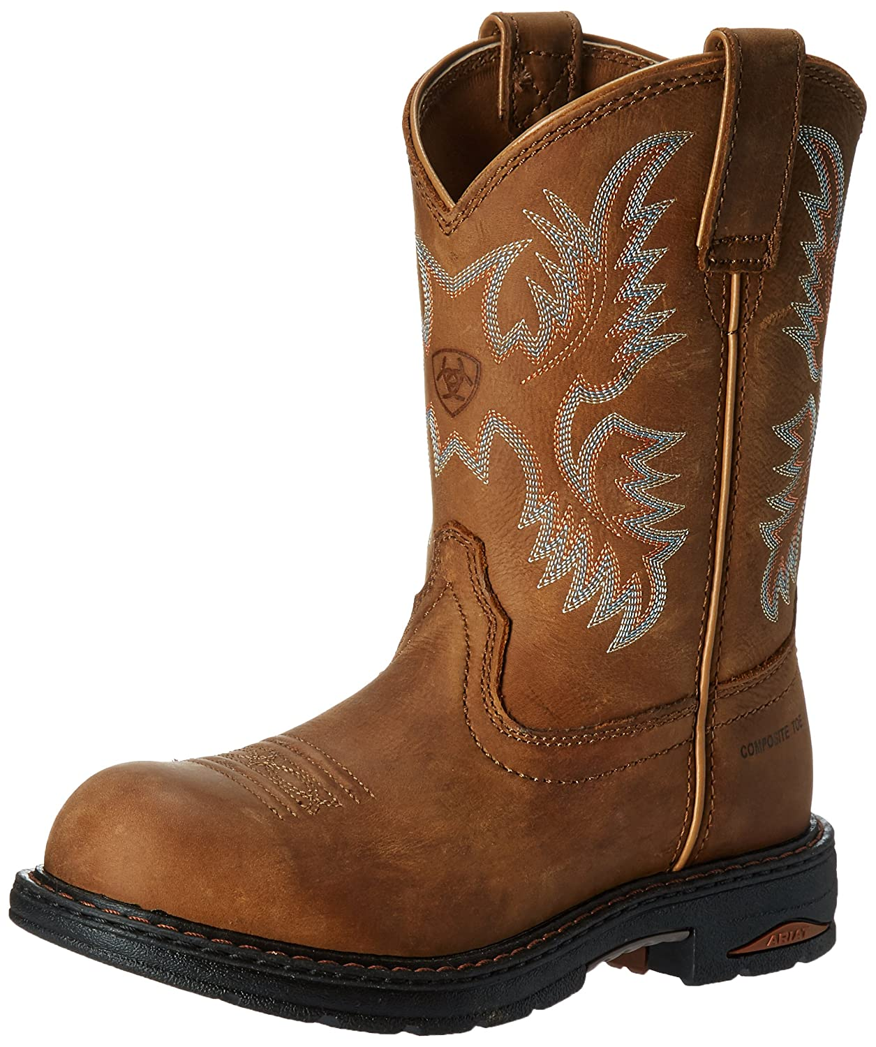 Ariat Womens Tracey H2O Comp Toe Western Work B00598FFK8 9 B(M) US|Brown