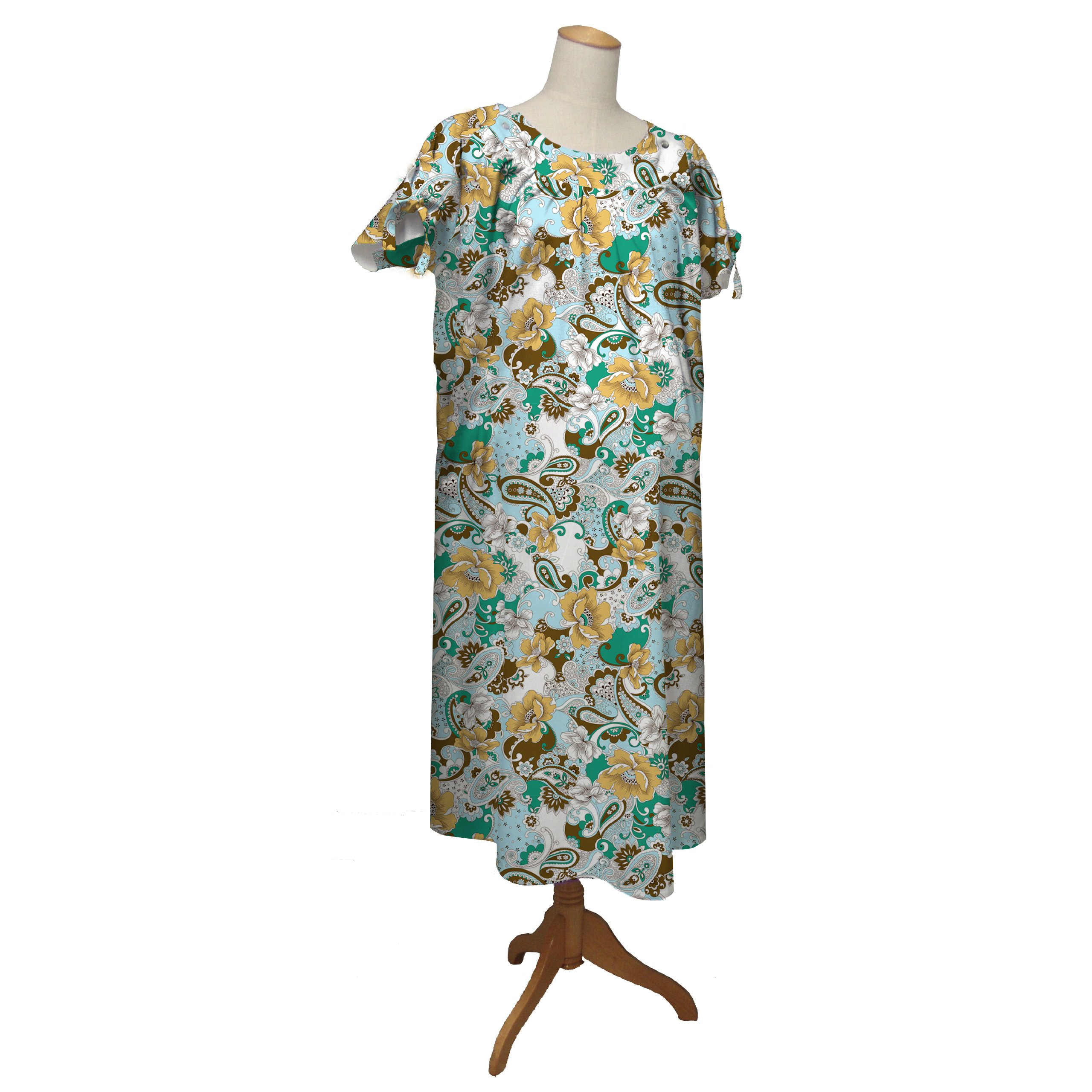 the peanut shell Hospital Gown, Boho Chic, Large/X-Large
