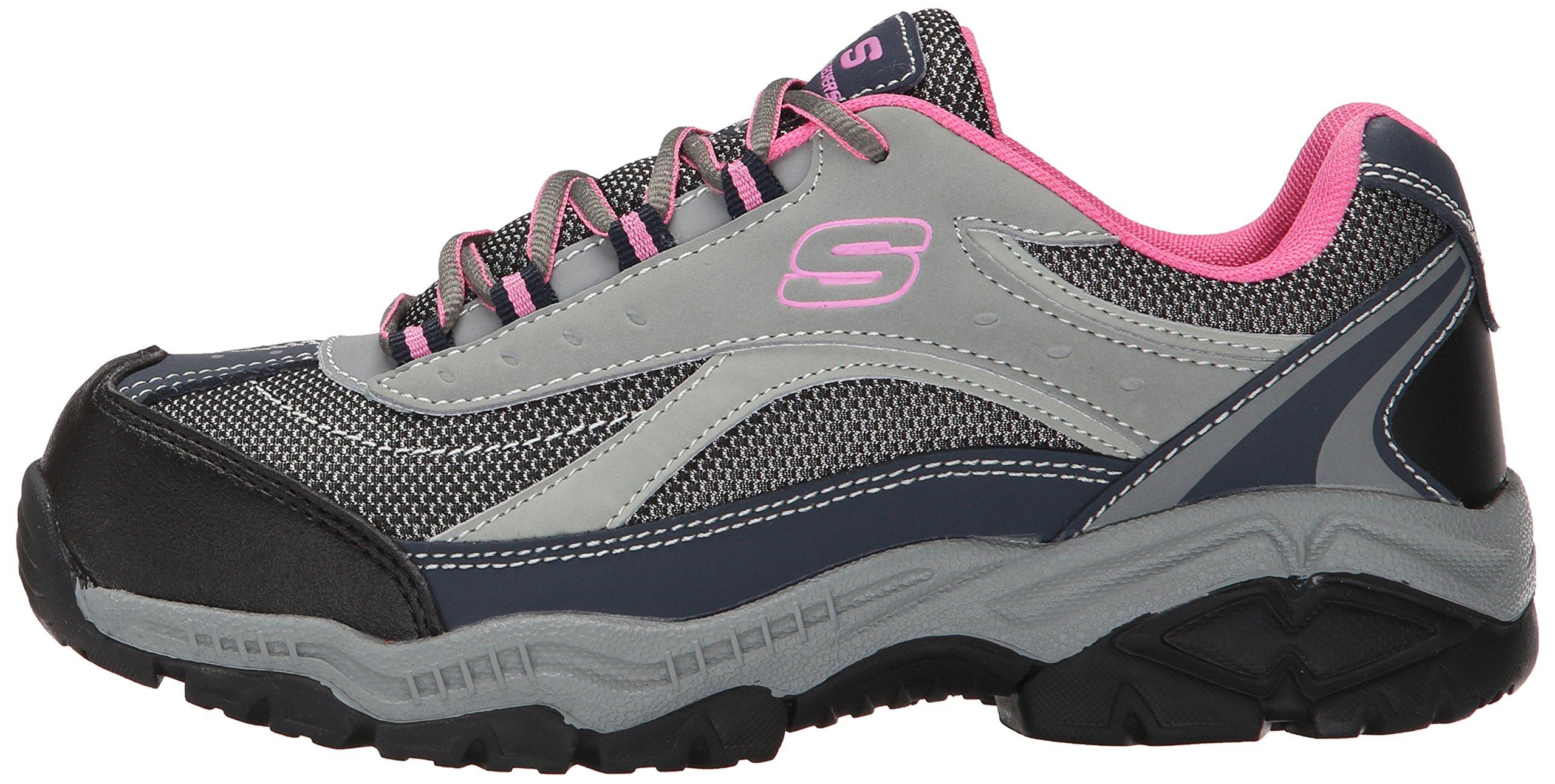 Skechers for Work Women's Doyline Hiker Boot, Gray Pink, 9 M US by Skechers (Image #5)