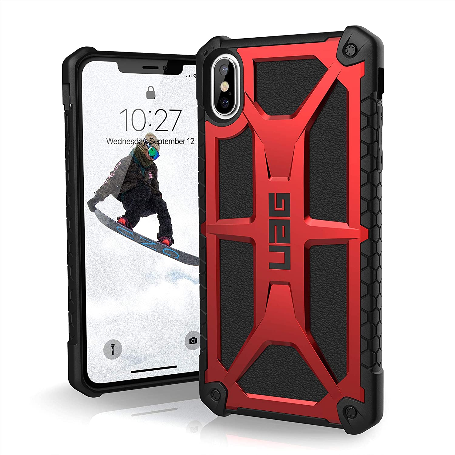 factory price 9908a 23ce8 URBAN ARMOR GEAR UAG iPhone Xs Max [6.5-inch Screen] Monarch Feather-Light  Rugged [Crimson] Military Drop Tested iPhone Case