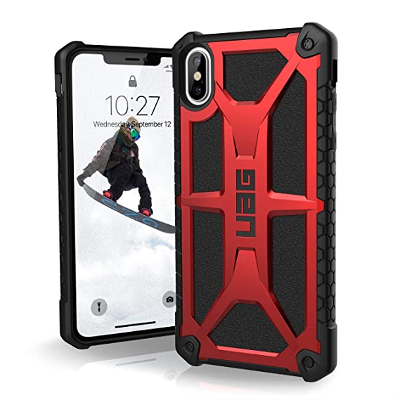 factory price d1993 eb449 URBAN ARMOR GEAR UAG iPhone Xs Max [6.5-inch Screen] Monarch Feather-Light  Rugged [Crimson] Military Drop Tested iPhone Case
