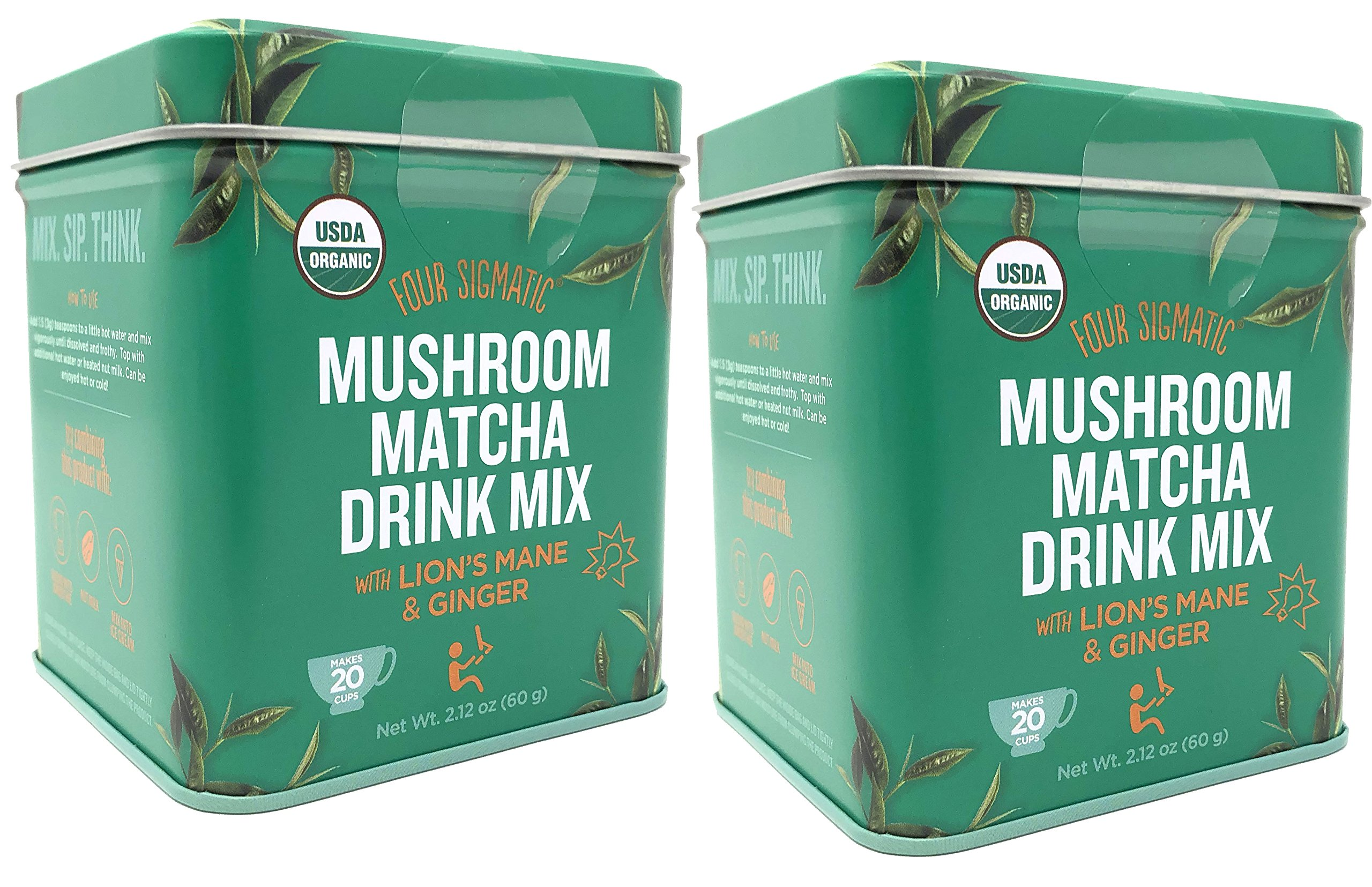 Four Sigmatic Matcha Lion's Mane and Ginger (Pack of 2)