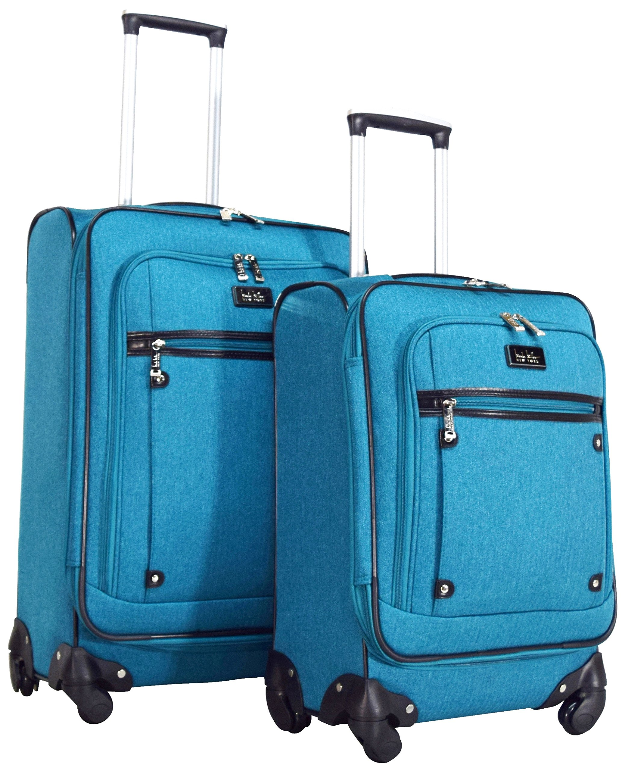 Nicole Miller New York Taylor 2-Piece Luggage Set: 24'' and 20'' Spinners (Teal)