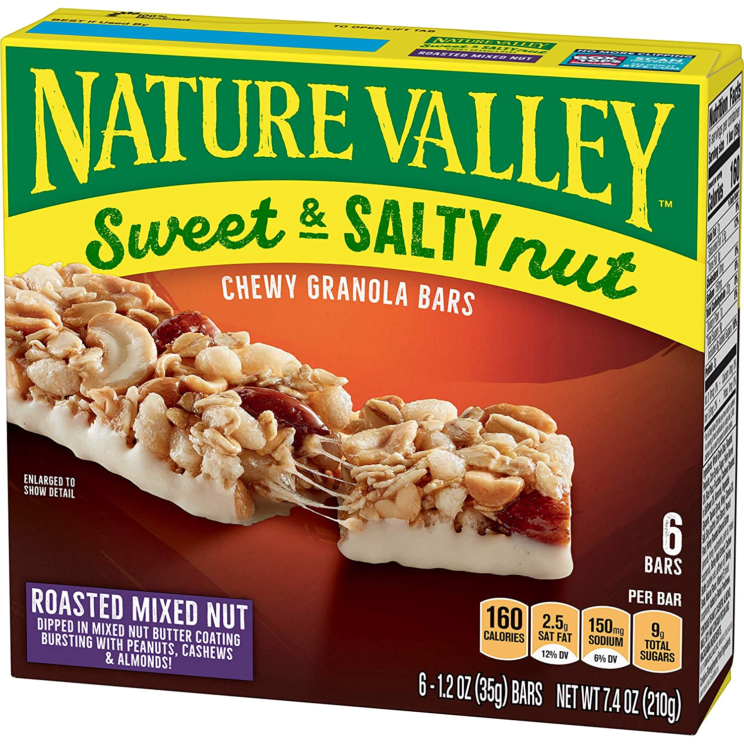 Nature Valley Granola Bars Sweet And Salty Nut Roasted Mixed Nut 7 4 Ounce Pack Of 6 Amazon Com Grocery Gourmet Food