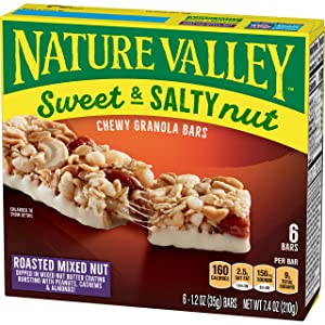 Nature Valley Granola Bars, Sweet and Salty Nut, Roasted Mixed Nut, 6 Count