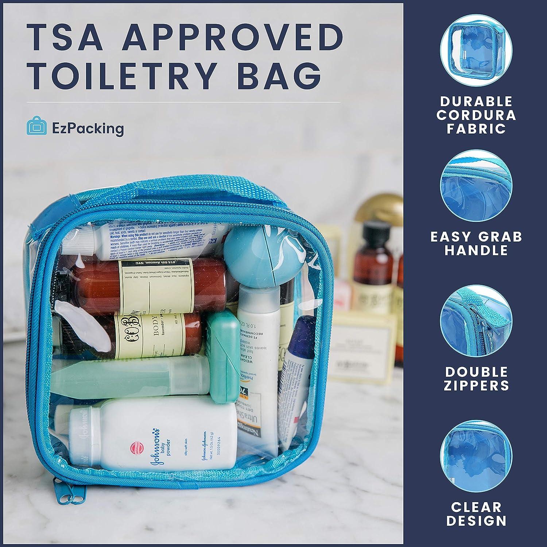 Amazon.com: Bolsa de aseo transparente aprobada por la TSA 3 ...