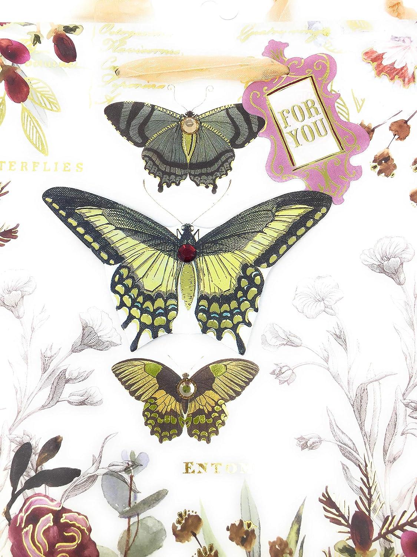 Punch Studio Butterflies 3D Gift Bag Medium 66023