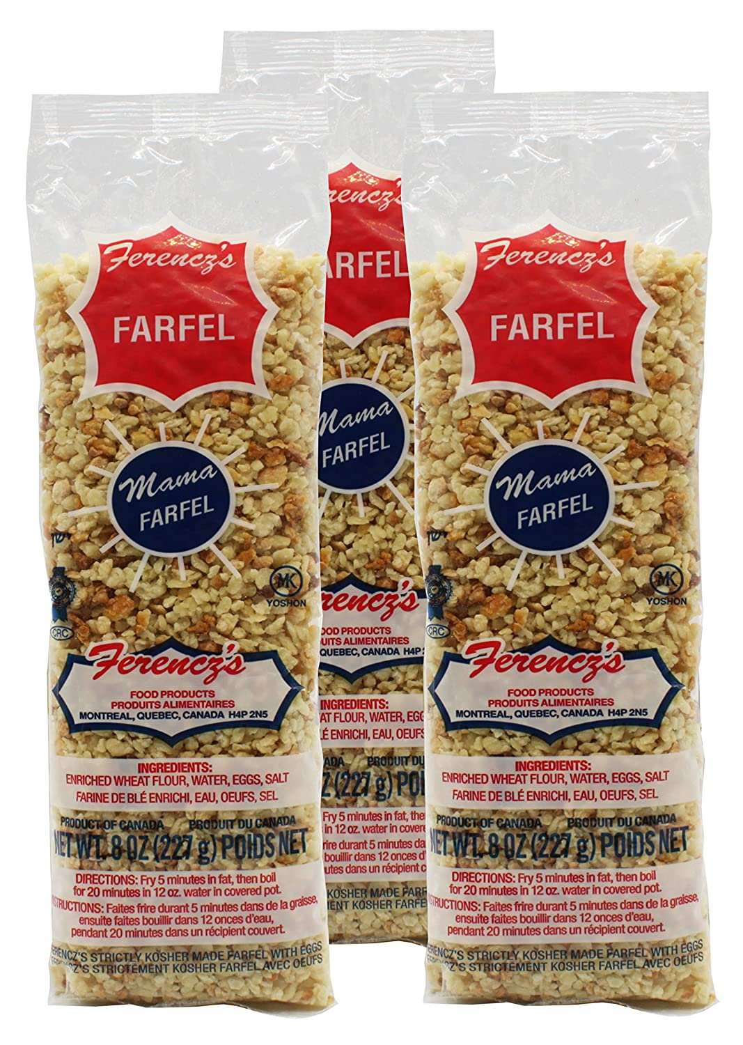 Ferencz's Kosher Haimishe Farfel Crumbs (Pack of 3) : Couscous : Grocery & Gourmet Food