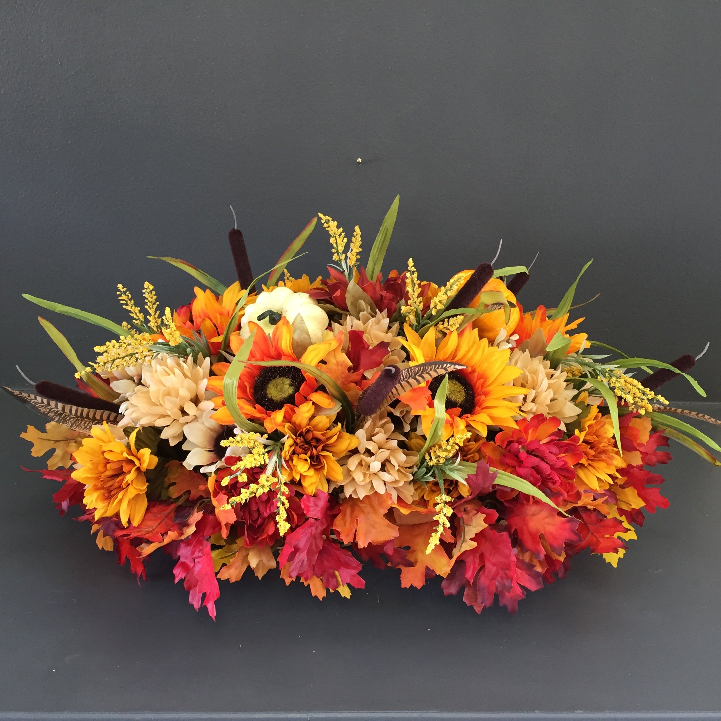 Thanksgiving Centerpiece, Holiday Centerpiece, Fall Floral, Autumn Centerpiece, Mantle Swag