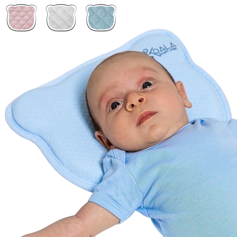 Almohada para Bebe para plagiocefalia desenfundable (con dos forros) para prevenir/curar la Cabeza Plana in Memory Foam Antiasfixia - KoalaBabycare®